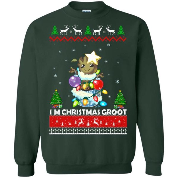 I'm a Christmas Groot ugly sweater Apparel
