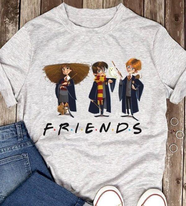 Harry Potter friends Harry Hermione Ron cartoon art t shirt Apparel
