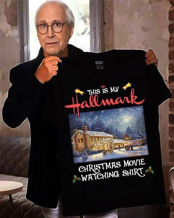 National Lampoon's This is my Hallmark Christmas movie watching shirt Apparel