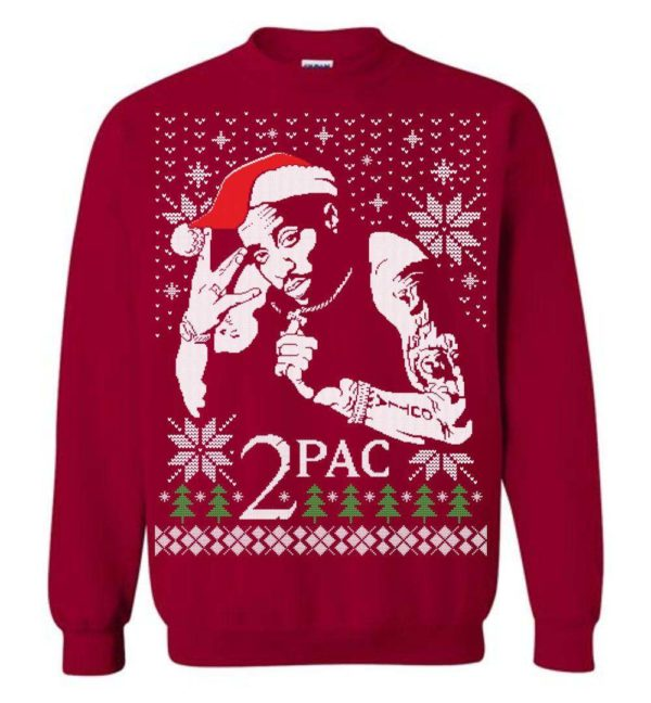 2 Pac Christmas Sweater Apparel