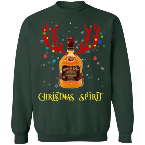 Appleton Christmas Spirit Reindeer Rum Christmas Sweatshirt Apparel