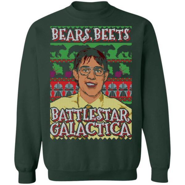 Bears Beets Battlestar Galactica Ugly Christmas Shirt Apparel
