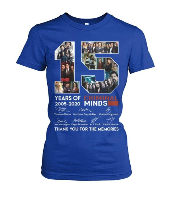15 Years Of Criminal Minds 2002 2020 Thank Yo For The Memories Shirt Apparel