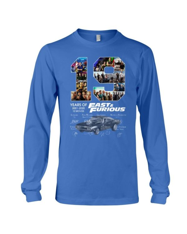 19 Years Of Fast & Furious Signature Shirt Apparel