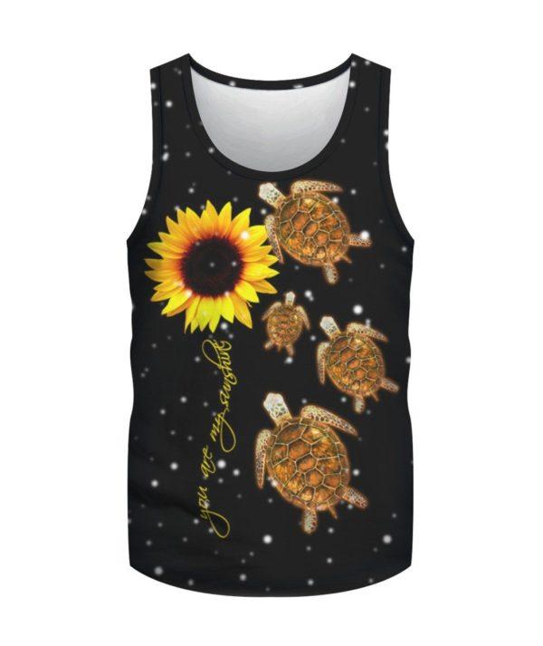 You Are My Sunshine Sunflower & Turtle 3D Shirt Uncategorized
