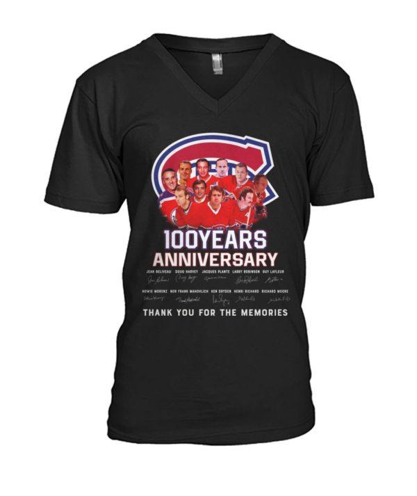 Montreal Canadiens 100 Years Anniversary Signature Shirt Apparel
