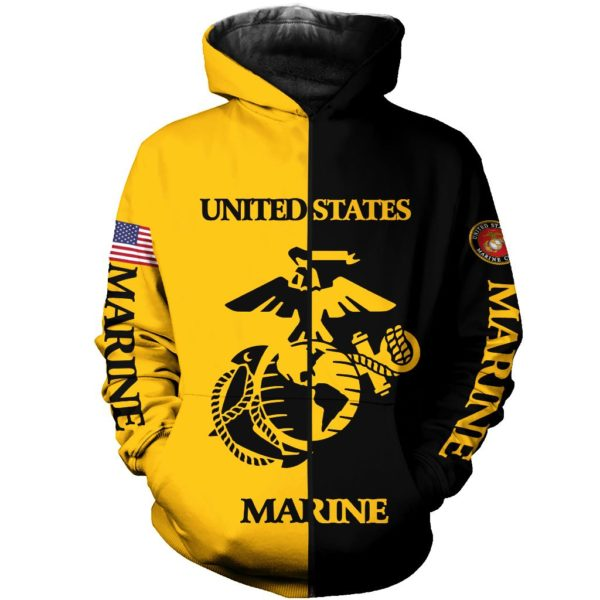US Marine 3D All Over Printed Shirt Apparel