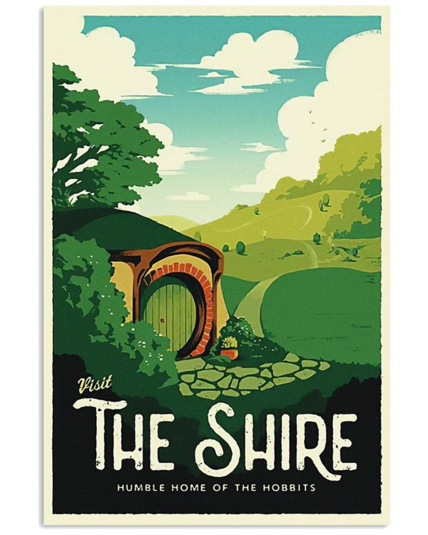 Visit The Shire Poster Apparel