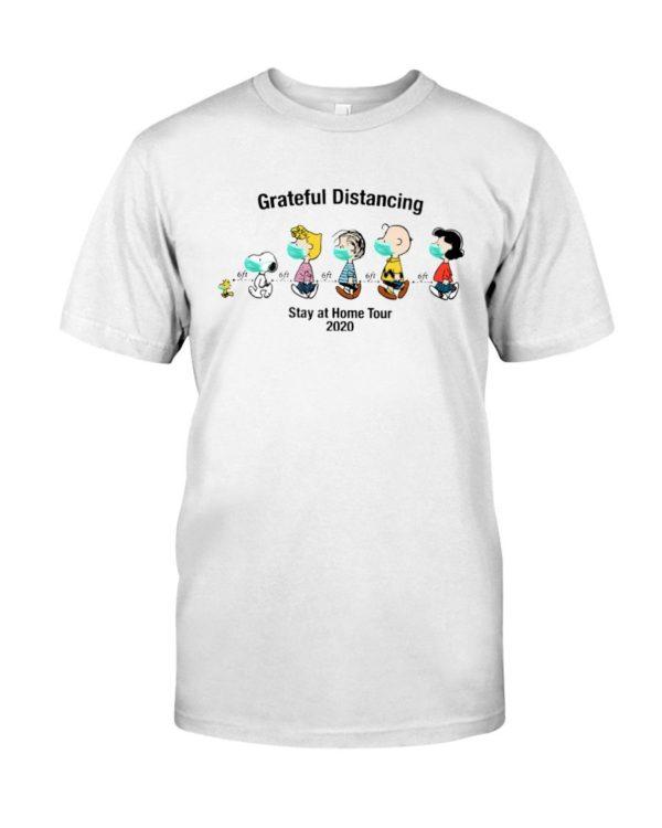 Grateful Distancing Snoopy Stat At Home Tour 2020 Shirt Apparel