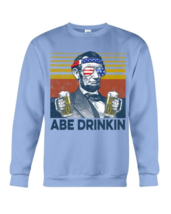 Beer Abe Drinking Classic T Shirt Apparel
