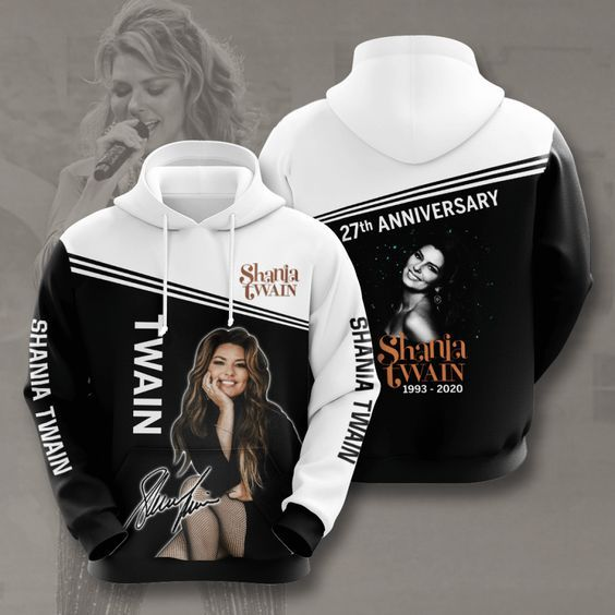 Shania Twain Signature 3D Hoodie Apparel