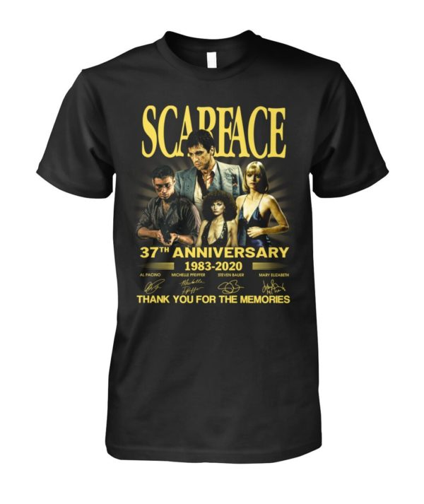 Scarface 37Th Anniversary 1983 2020 Thank You For The Memories Signatures Shirt Apparel