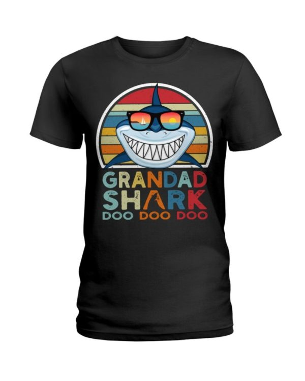 Grandad Shark Doo Doo Doo T Shirt Apparel