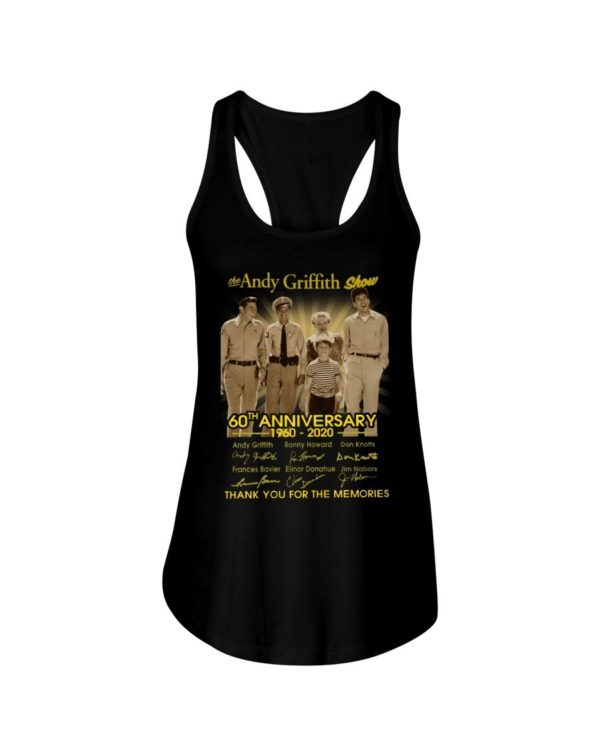 The Andy Griffith Show 60Th Anniversary 1960 2020 Thank You For The Memories Signature Shirt Apparel