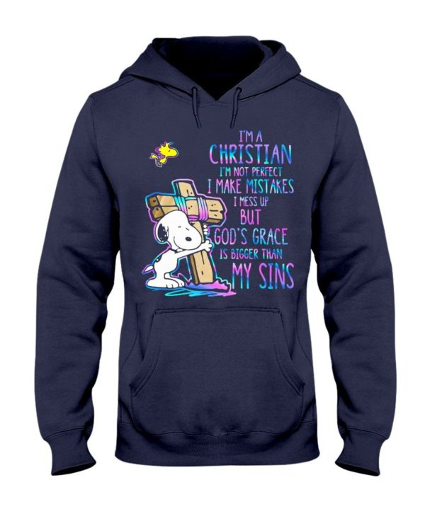 Snoopy I'm A Christian I'm Not Perfect I Make Mistakes Shirt Apparel