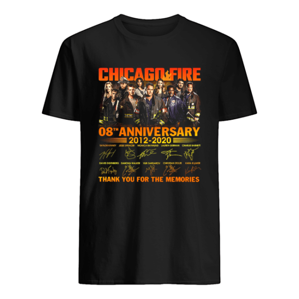 Chicago Fire 08Th Anniversary 2012 2020 Thank You For The Memories Signature Shirt Apparel