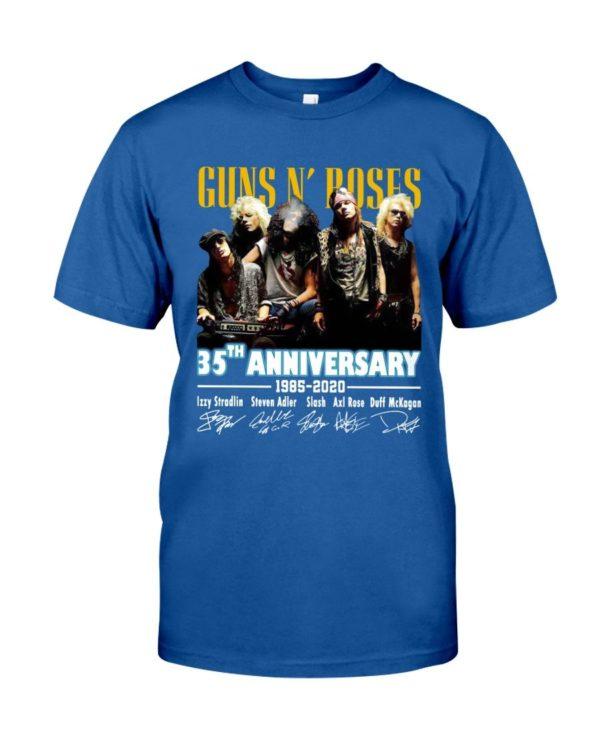 Guns N' Roses 35Th Anniversary 1985 2020 Signature Shirt Apparel