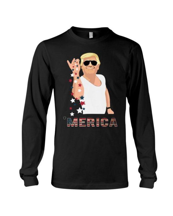 Trump Merica USA Flag Color Shirt Apparel