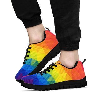 Love Is Love LGBT Colorful Sneaker for Men & Women Apparel