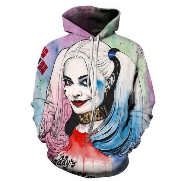 Harley Quinn 3D Hoodie Apparel