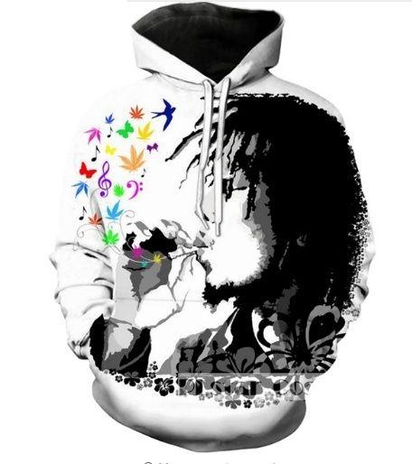 Bob Marley 3D Hoodie Apparel