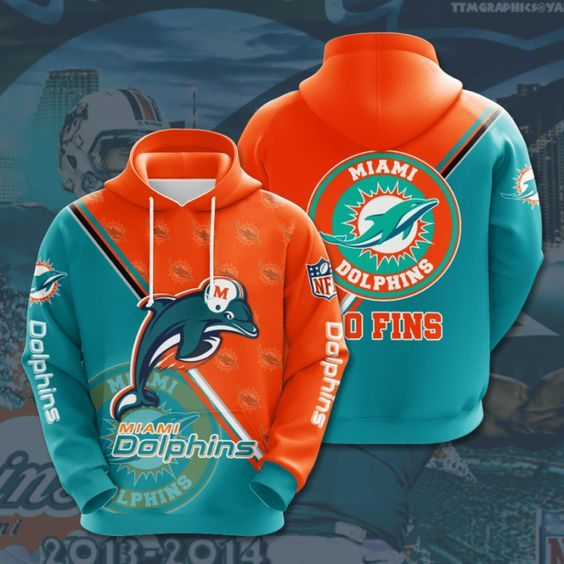 Miami Dolphins NFL Full Printing Hoodie Apparel