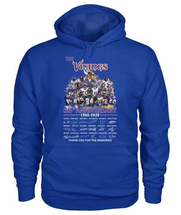 The Vikings 60Th Anniversary 1960 2020 Thank You For The Memories Signature Shirt Apparel