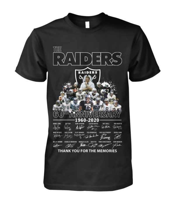 The Raiders 60Th Anniversary 1960 2020 Thank You For The Memories Signature Shirt Apparel