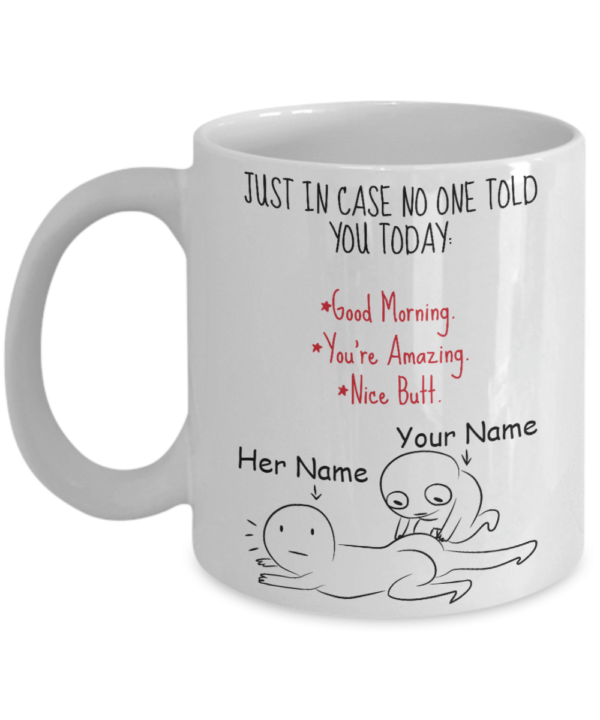 Just In Case No One Told You Today Custom Name Funny Mugs Apparel