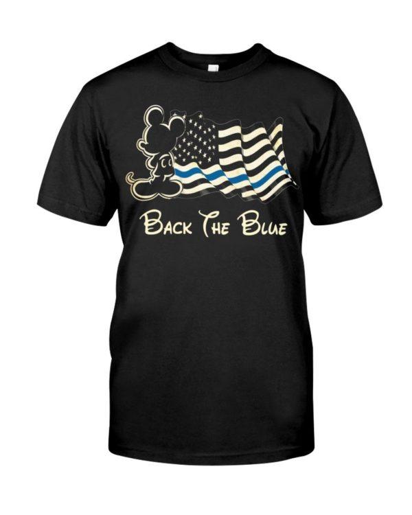 Mickey Mouse USA Flag Back The Blue Shirt Apparel