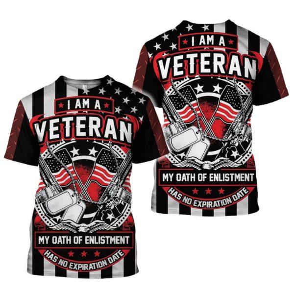 US Army Veteran 3D All Over Printed Shirt Apparel