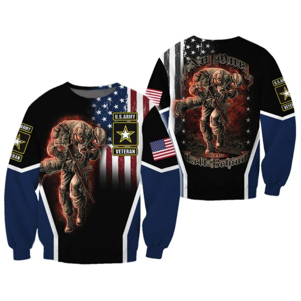 Veteran No One Gets Left Behind 3D All Over Printed Shirts Apparel