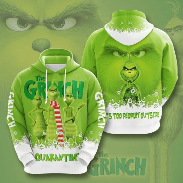 Movie The Grinch 3D Hoodie Apparel