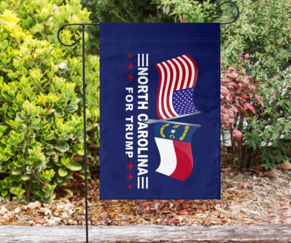 North Carolina For Trump Garden Flag | House Flag | Wall Flag Apparel