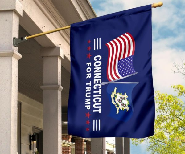 Connecticut For Trump Flag Apparel