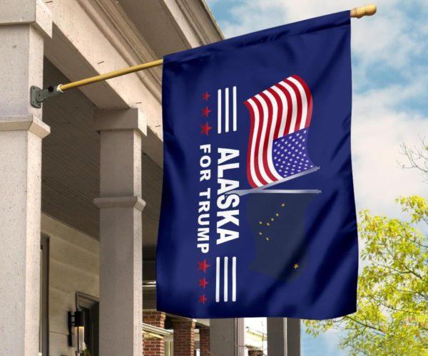 Alaska For Trump Flag Apparel