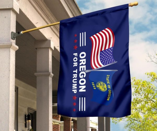 Oregon For Trump Flag Apparel