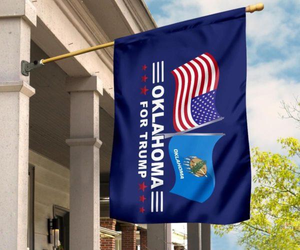 Oklahoma For Trump Flag Apparel