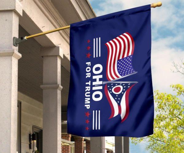 Ohio For Trump Flag Apparel