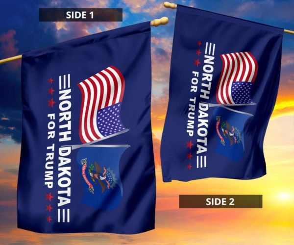 North Dakota Trump Flag Apparel