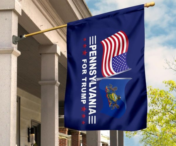Pennsylvania For Trump Flag Apparel
