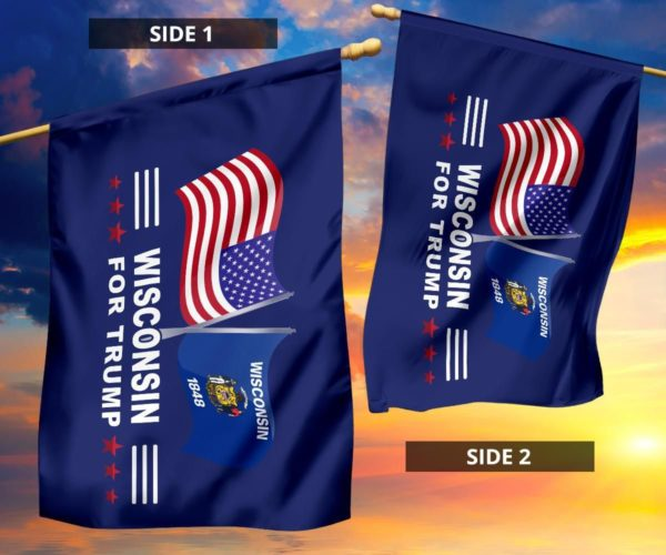 Wisconsin For Trump Flag Apparel