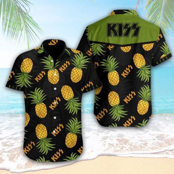 KISS Pineapple Hawaiian Shirt Apparel