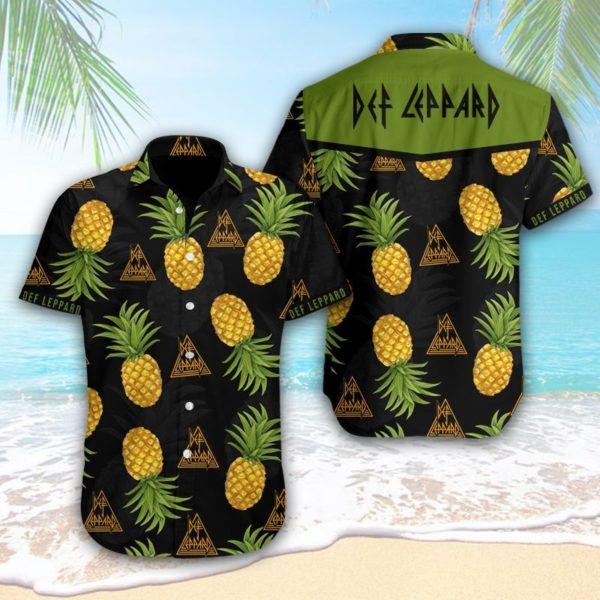 Def Leppard Hawaiian Pineapple Shirt Apparel
