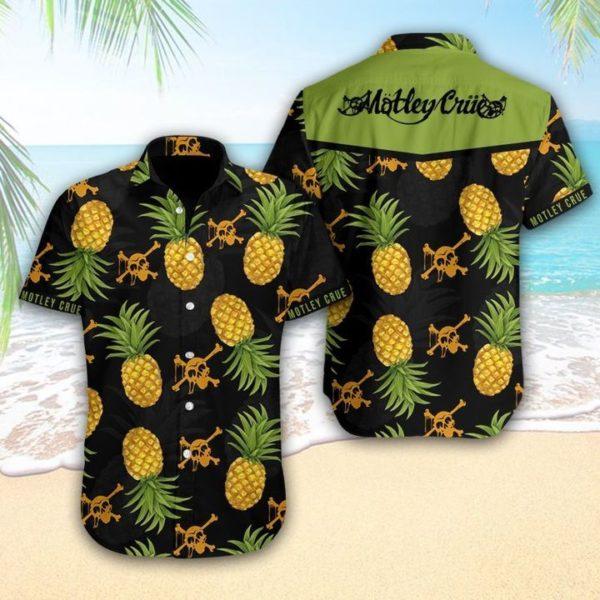 Mötley Crüe Hawaiian Pineapple Shirt Apparel