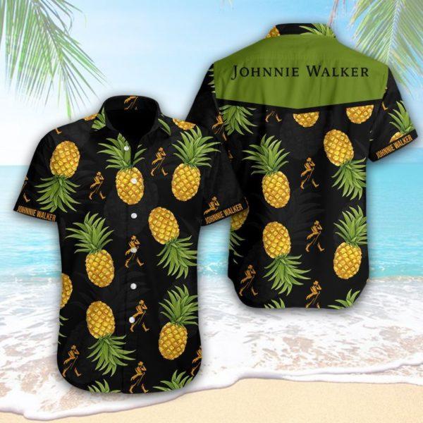 Johnnie Walker Hawaiian Pineapple Shirt Apparel