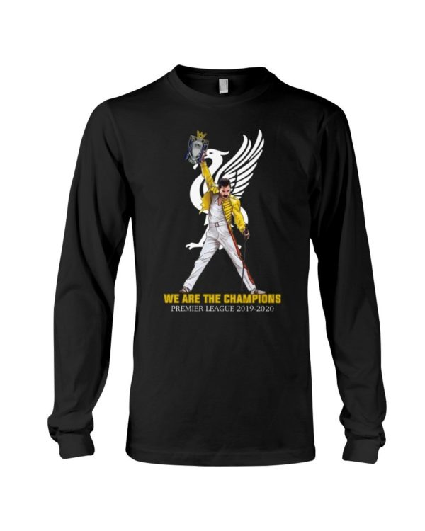 Freddie Mercury ft Liverpool We Are The Champion 2019 2020 Shirt Apparel