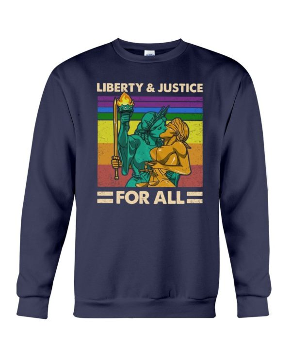 LGBT Liberty & Justice For All Shirt Apparel