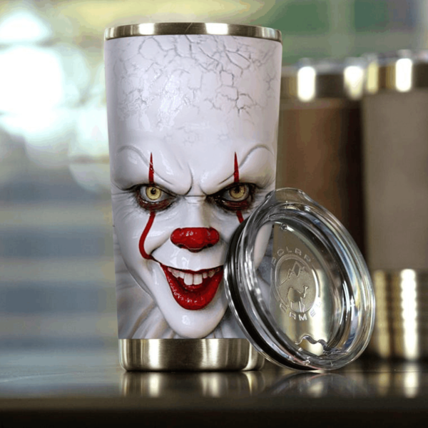 IT Evil Clown Face Tumbler 20Oz Apparel