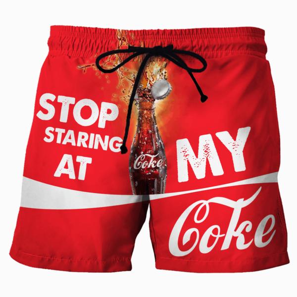 Stop Staring At My Koke Beach Short Pants Apparel